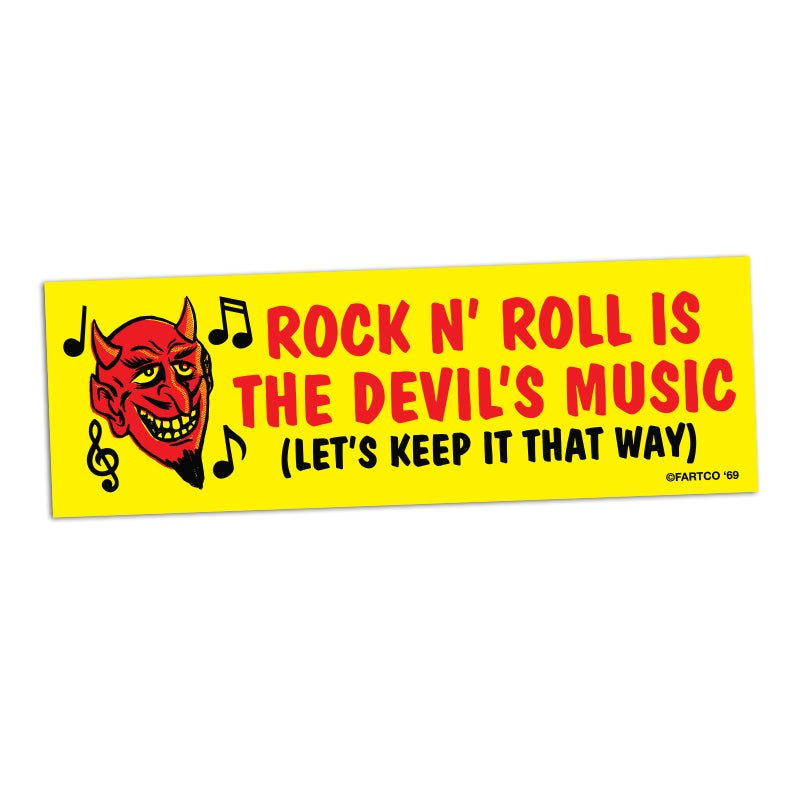 Image of Devil's Music Bumper Sticker