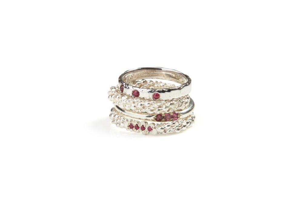 Image of Ring Set With Rubies