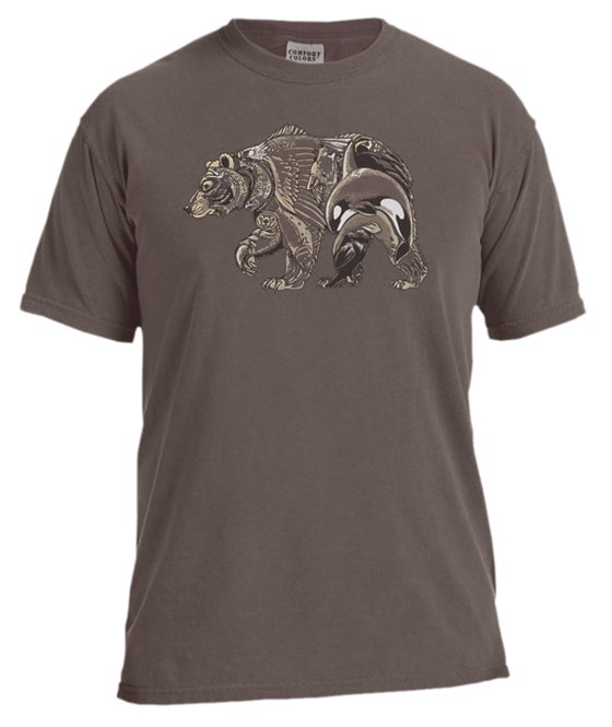 Image of Glacier Bear garment dyed t-shirt