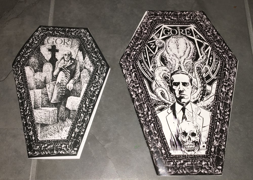 Image of Mini Coffin Issue B&W Monster Themed! Super Limited Edition