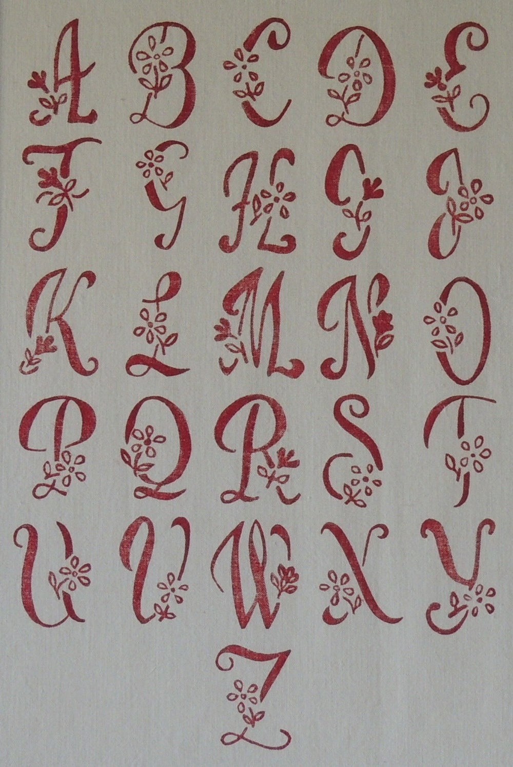 Image of Printed monogram Hearts