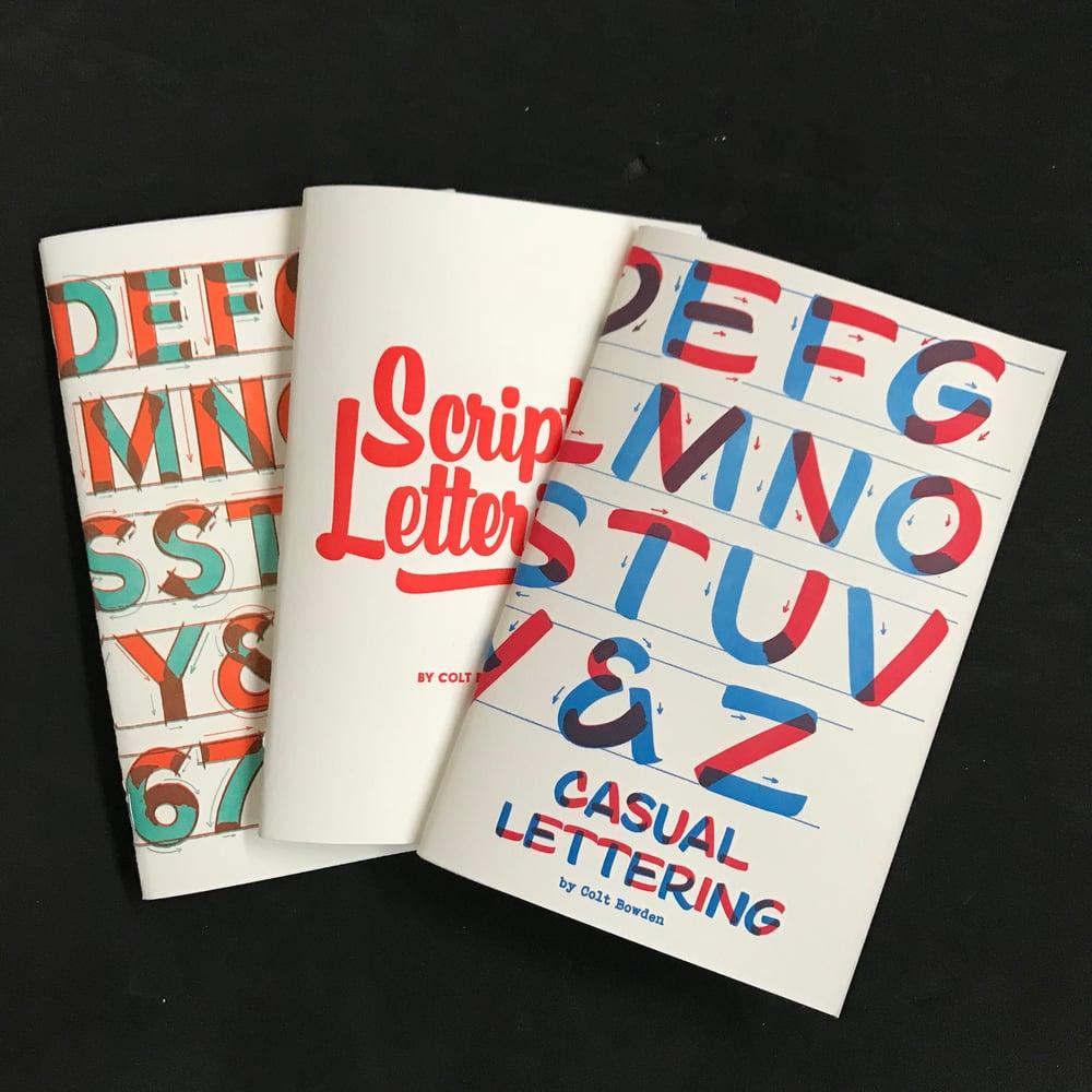 Image of 3 pack Block Script & Casual Books