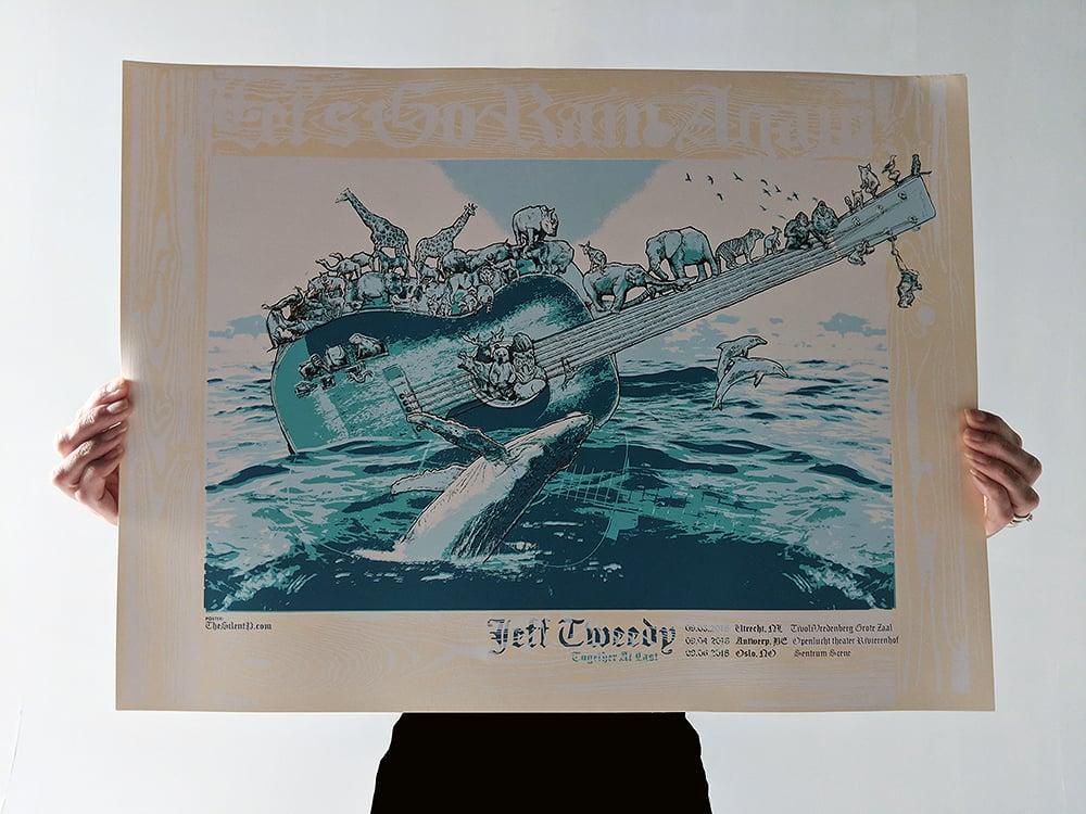 """Jeff Tweedy European Tour Poster - """"Let's Go Rain"""""""