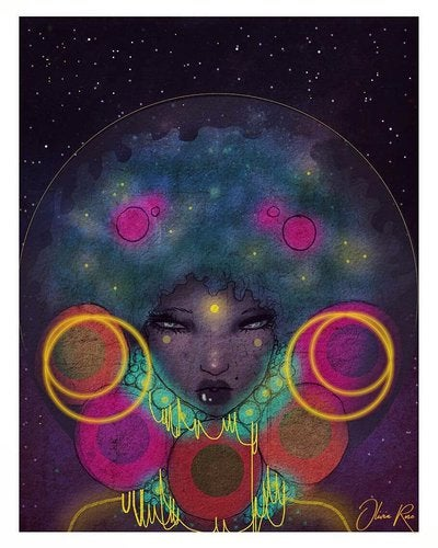 Image of Galaxy queen A4 print