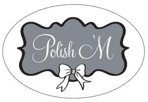 Image of Polish 'M Sticker 5x3 Large
