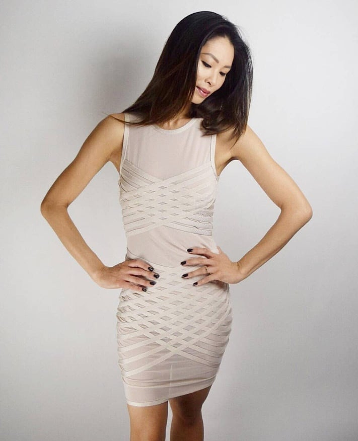 Image of Bandage Cream Dress