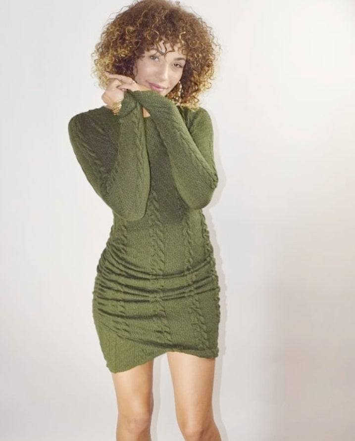 Image of Army Long Sleeve Dress