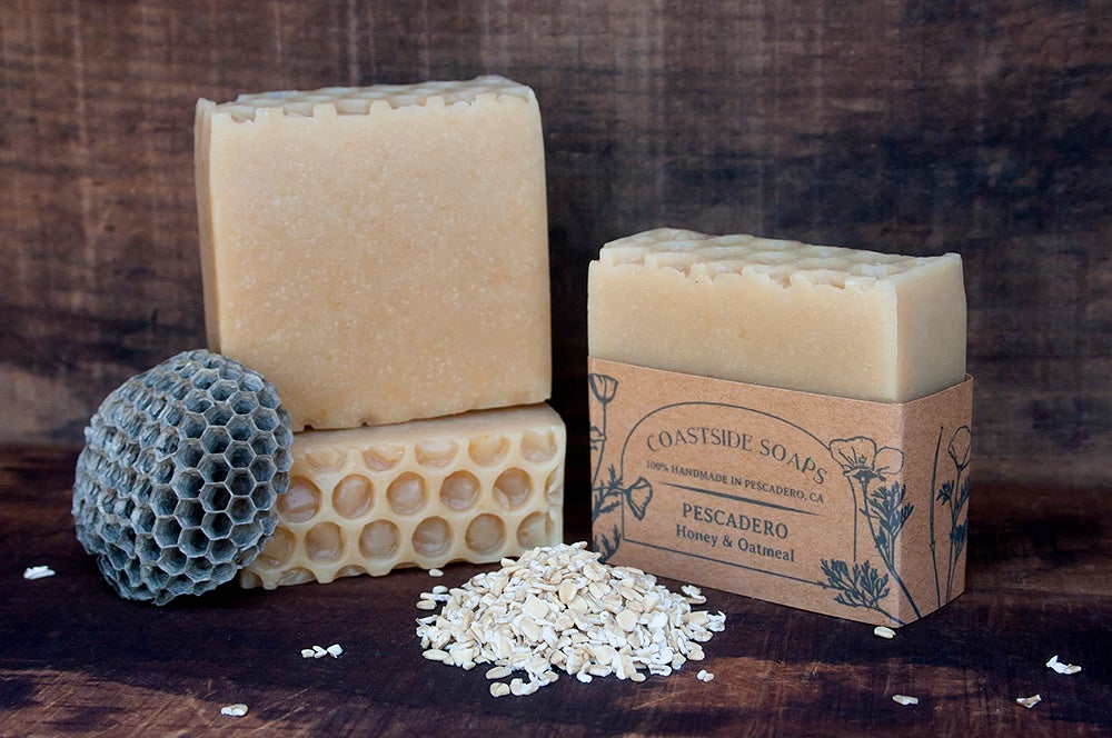 Image of Pescadero Bar - All Natural Honey & Oatmeal Unscented Soap
