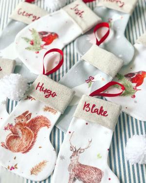 Image of Assorted Mini Christmas Stockings