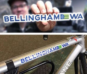 Image of Bellingham Flag Bicycle Sticker