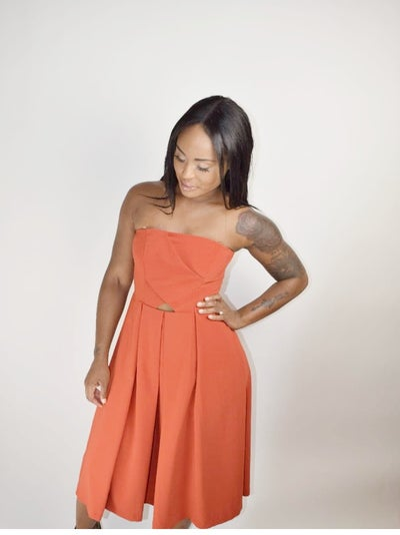 Image of Tube Pleated Dress