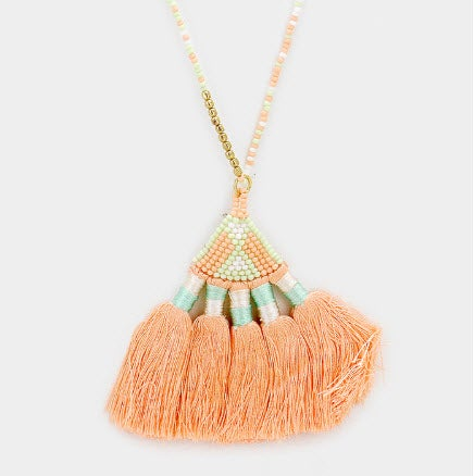 Image of Beaded Fringe Necklace
