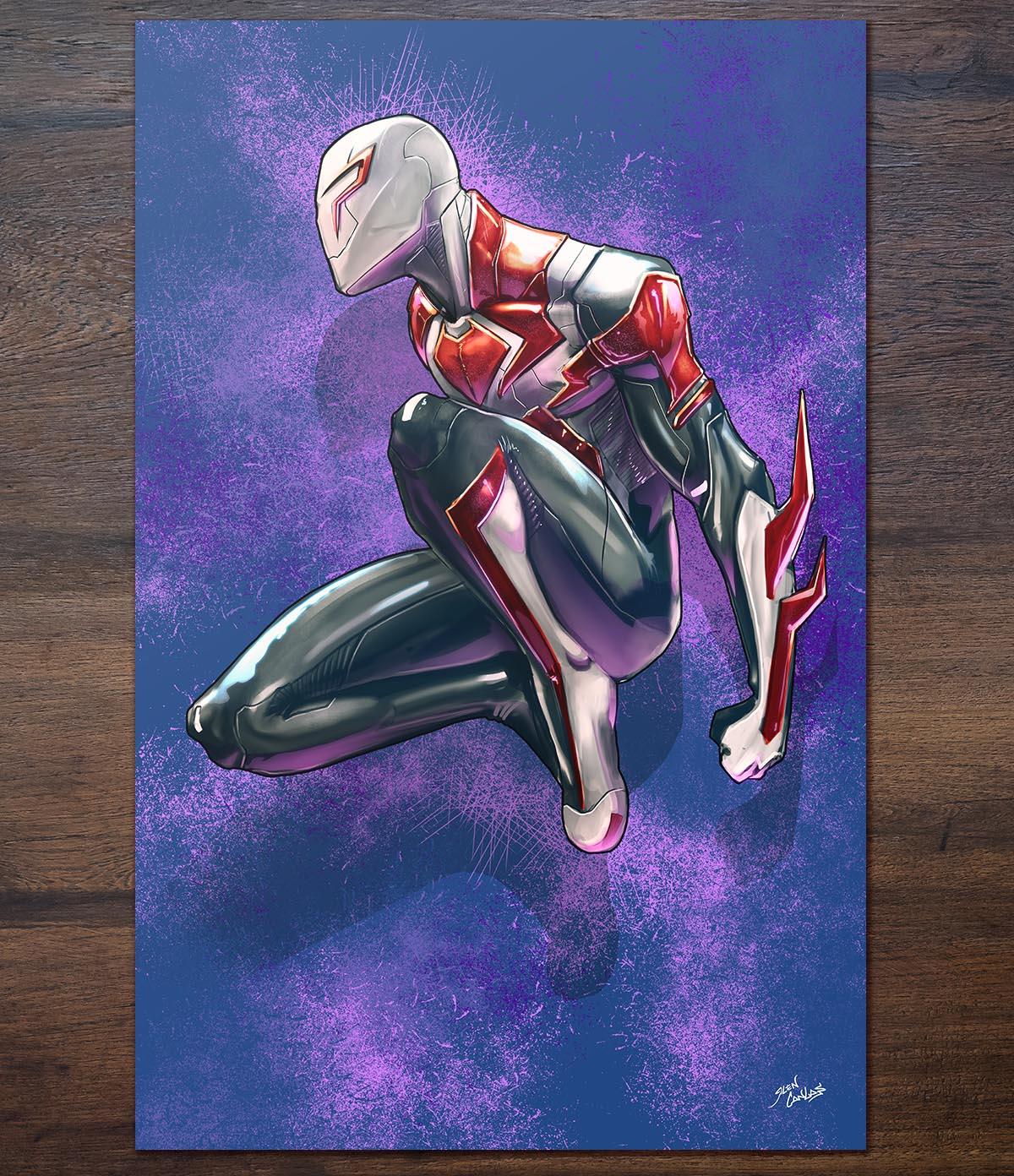 Image of Spiderman 2099 White Suit