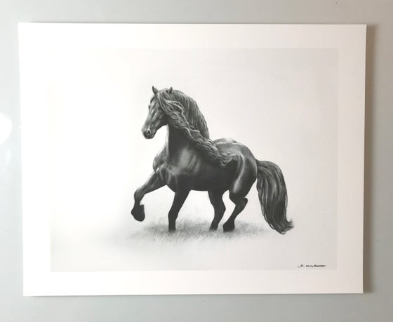 Image of Charcoal horse