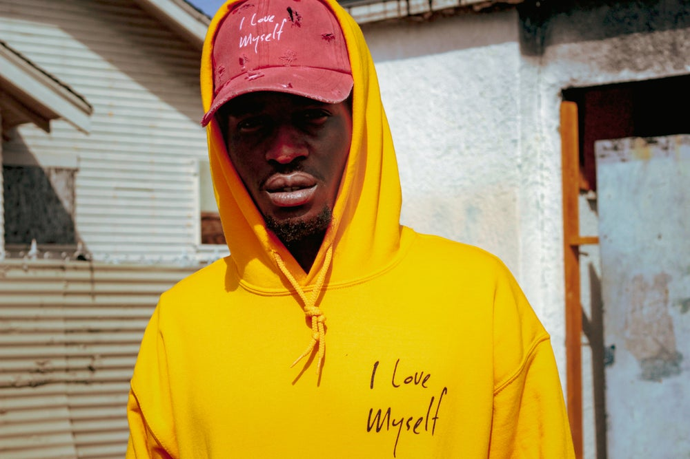 Image of Golden ILoveMyself hoodie