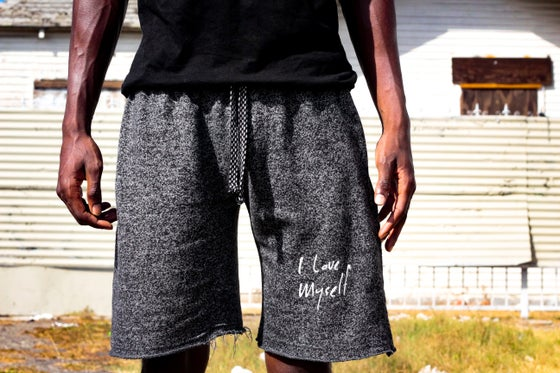 Image of Mesh ILoveMyself jogger shorts