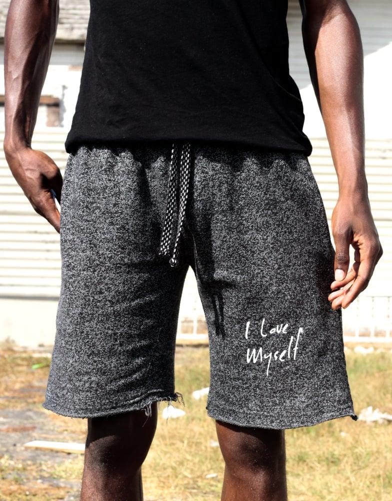 Image of Mesh ILoveMyself jogger shorts