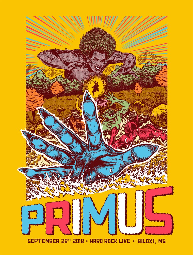 Image of PRIMUS-poster for 9/28/18-Biloxi, MS