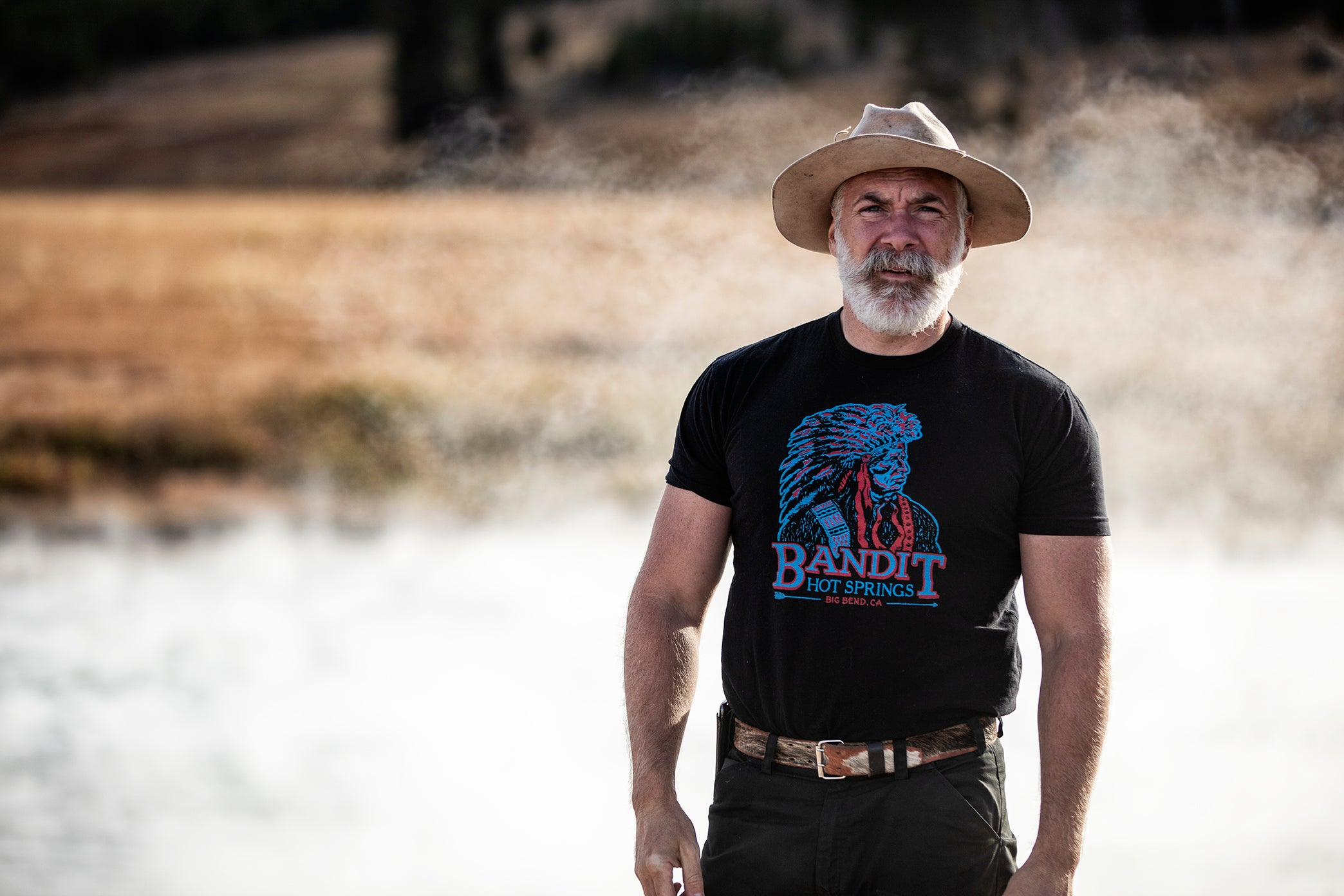 Bandit Hot Springs Black Tee