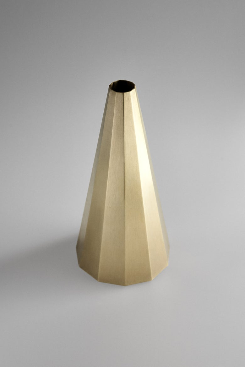 Image of Decagonal Brass Vase