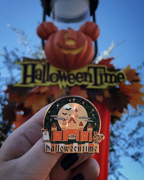 Image of Halloween Time Pin - Orange Castle