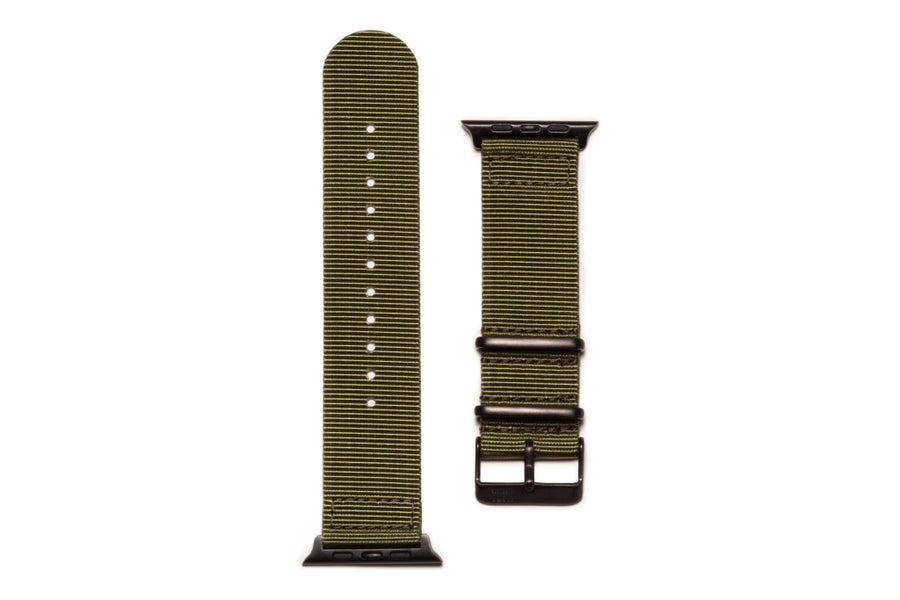 Image of Olive Drab - NATO Apple Watch Strap PVD Edition