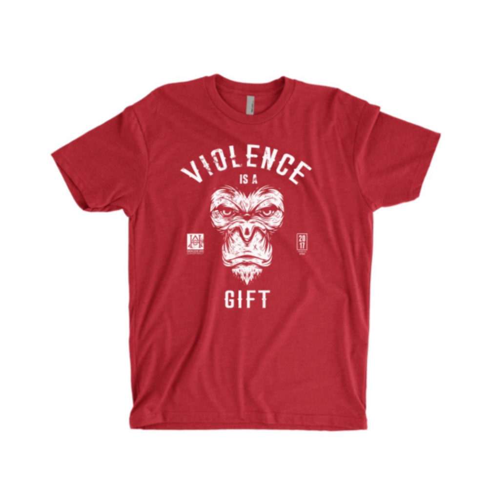 Image of HAC - Violence Is A Gift/We Hit RED Tee