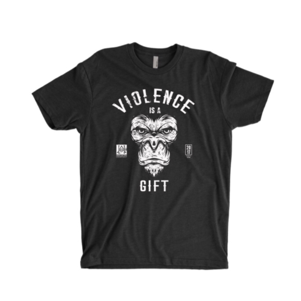 Image of HAC - Violence is A Gift / We Hit Black Tee