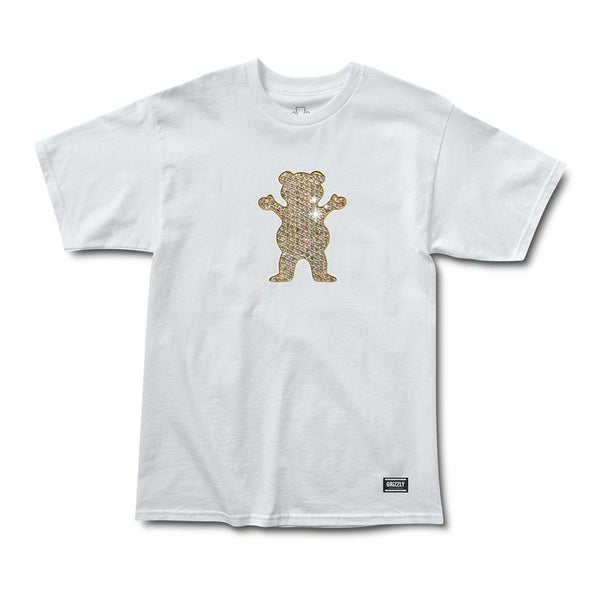 Image of Grizzly Biebel Pro Bling Bear T-Shirt White