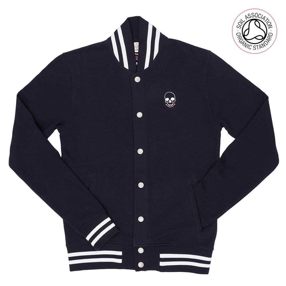 Axe Navy Striped Varsity Jacket (Organic)