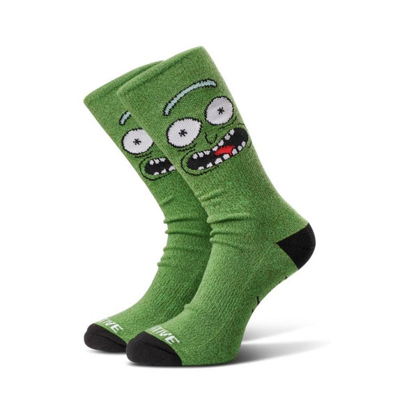 Image of PRIMITIVE RICK & MORTY PICKLE RICK SOCKS