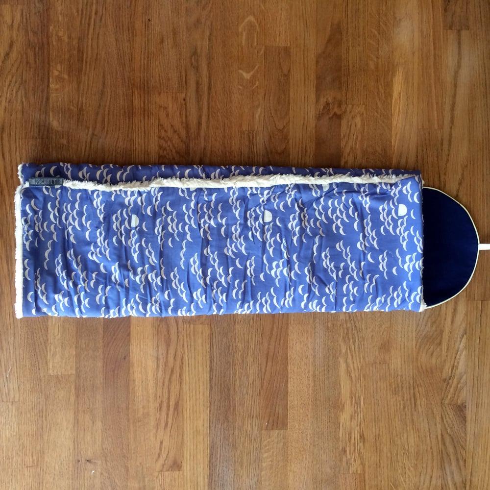 Image of Couverture bébé | Vagues d'été | Bleu horizon