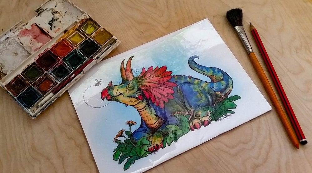 Image of Daisy Dinosaur - Art Print