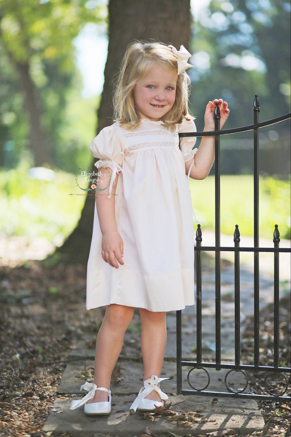 Image of Claire High Yoke Insertion Dress