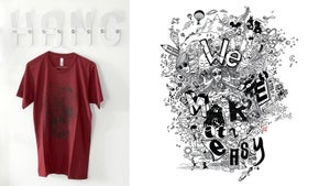 "Image of T-SHIRT | ""WE MAKE IT EASY"" Bordeaux"