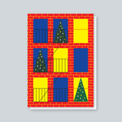 Image of Brooklyn Christmas Window card