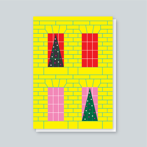 Image of Georgian Christmas Window card