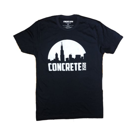 Image of Night Skyline T Shirt Blue