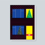 Image of Sixties Semi Christmas Window card