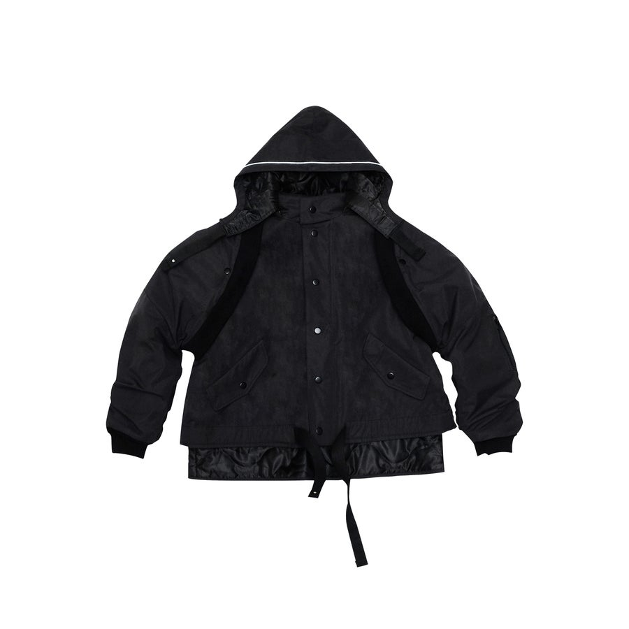 Image of (A)crypsis 2018A/W 'Souls of Mischief' 3-WAY JACKET BLACK