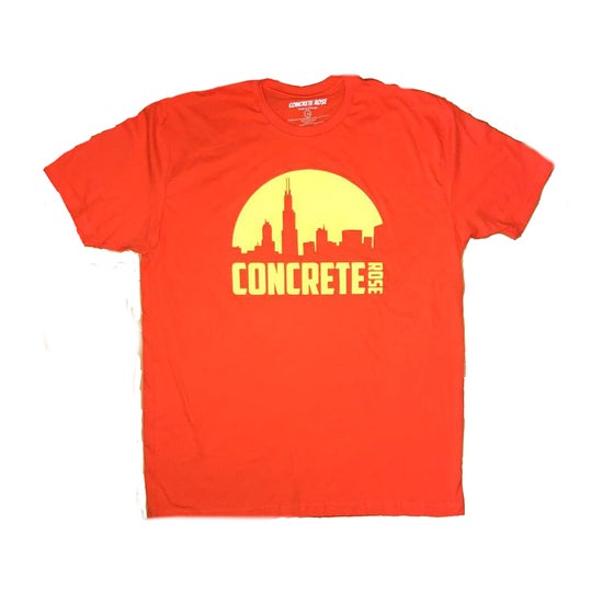 Image of Morning Skyline T Shirt Orange