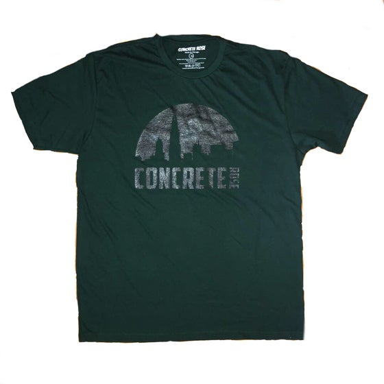 Image of Skyline T Shirt Forest Green