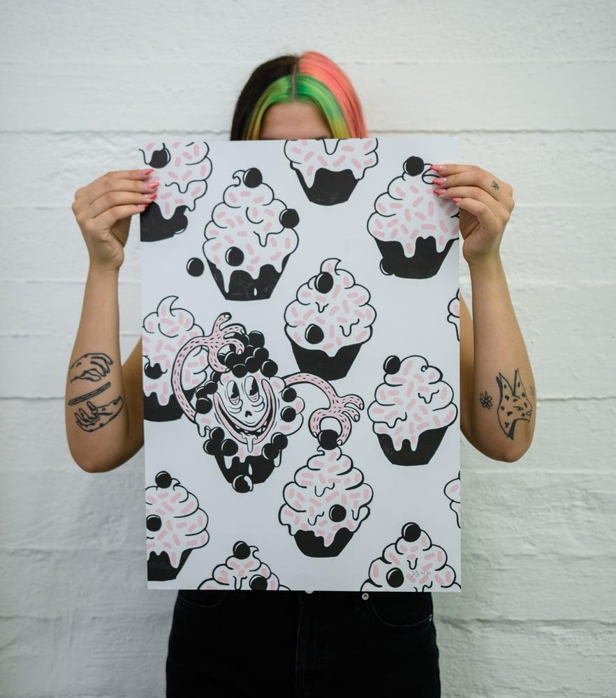 Image of blubb riso print serie - the cupcake