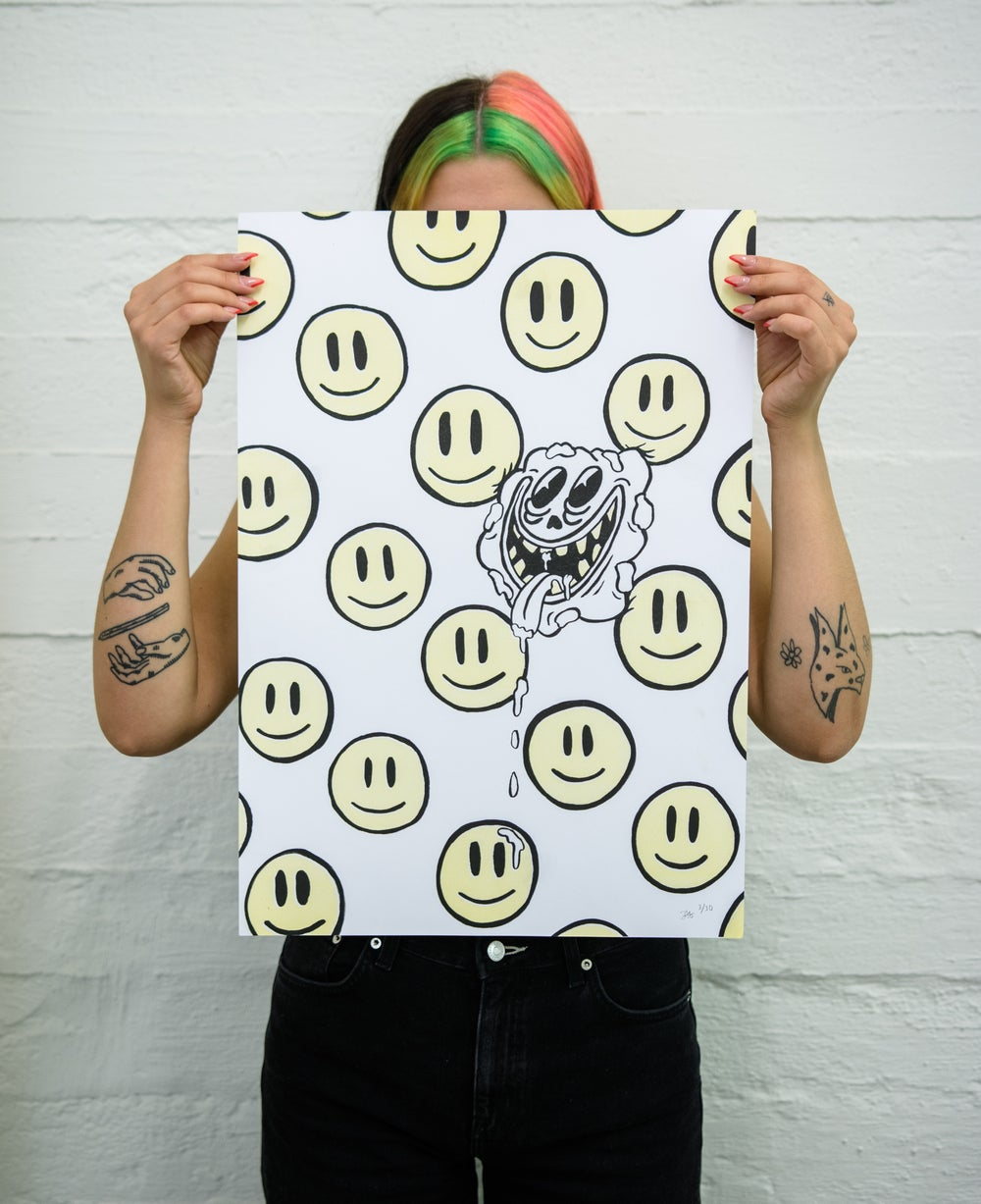 Image of blubb riso print serie - the smiley