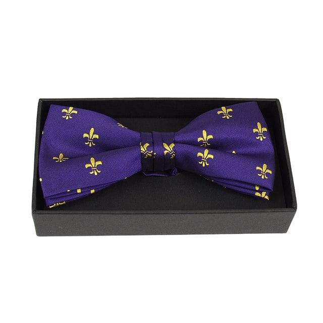 Image of Fleu-De - Les Purple and Gold Bow Tie