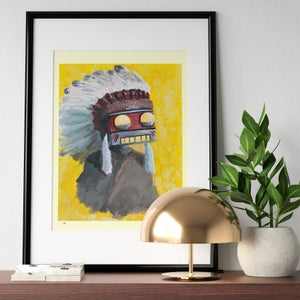 The Big Chief Print - Matt Q. Spangler Illustration