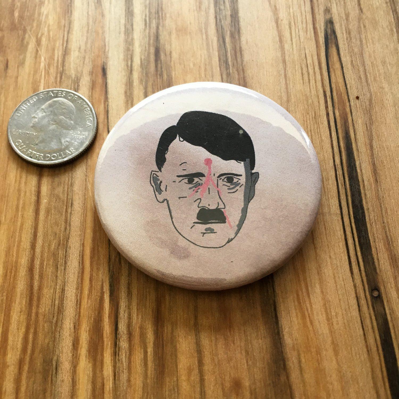 "Image of Dead Hitler 2.5"" Button"