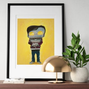 """Derek"" Print - Matt Q. Spangler Illustration"