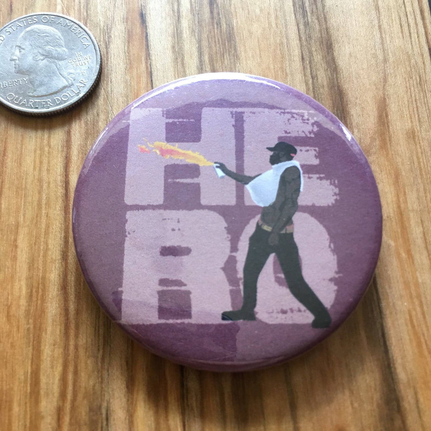 "Image of Corey Long Hero 2.5"" Button"