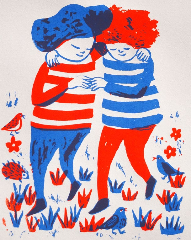 Image of Friends (Red & Blue)